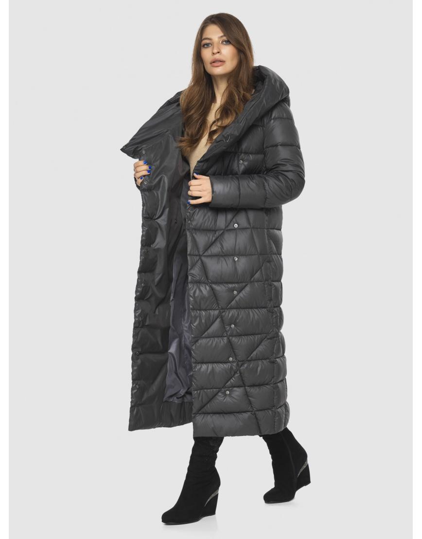 Длинная женская серая куртка Ajento удобная 23795 фото 6