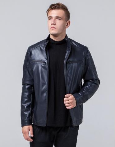 Куртка молодежная темно-синего цвета модель 2612 фото 1