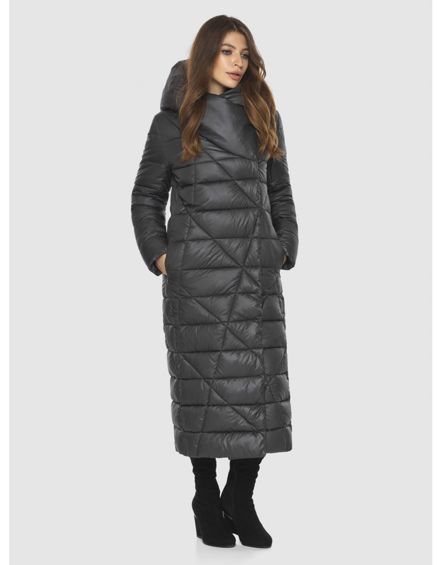 Длинная женская серая куртка Ajento удобная 23795 фото 3