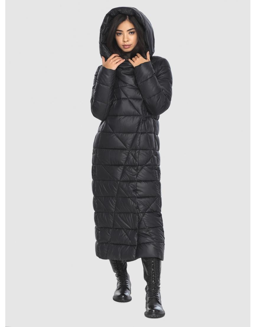 Куртка элегантная на подростка чёрная Moc зимняя M6715 фото 5