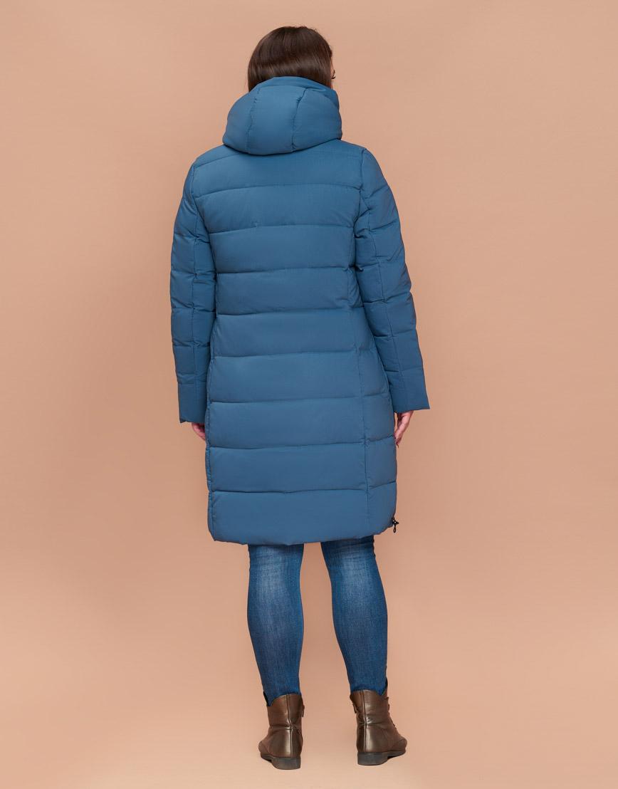Темно-голубая практичная куртка женская высокого качества модель 25045