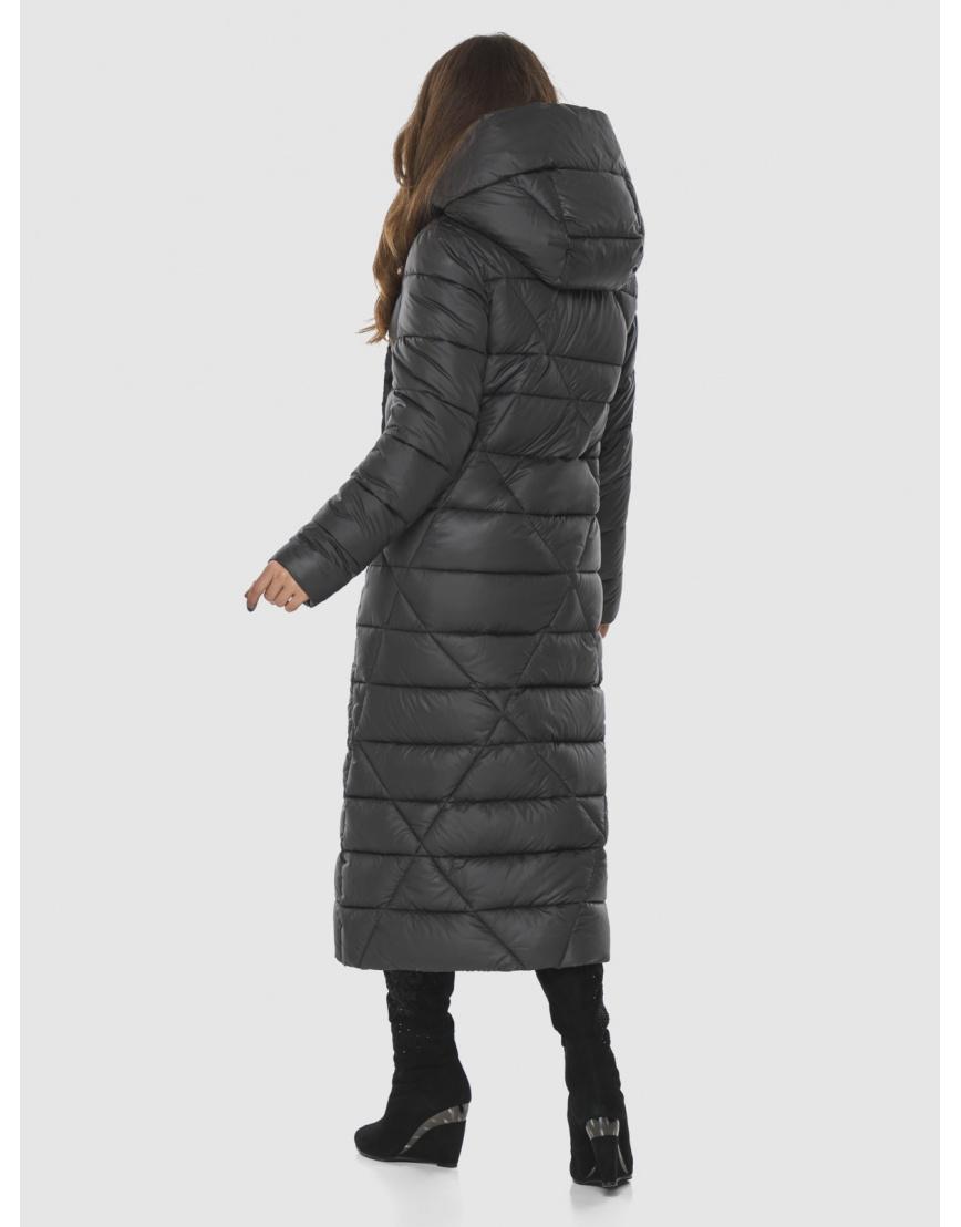 Длинная женская серая куртка Ajento удобная 23795 фото 4