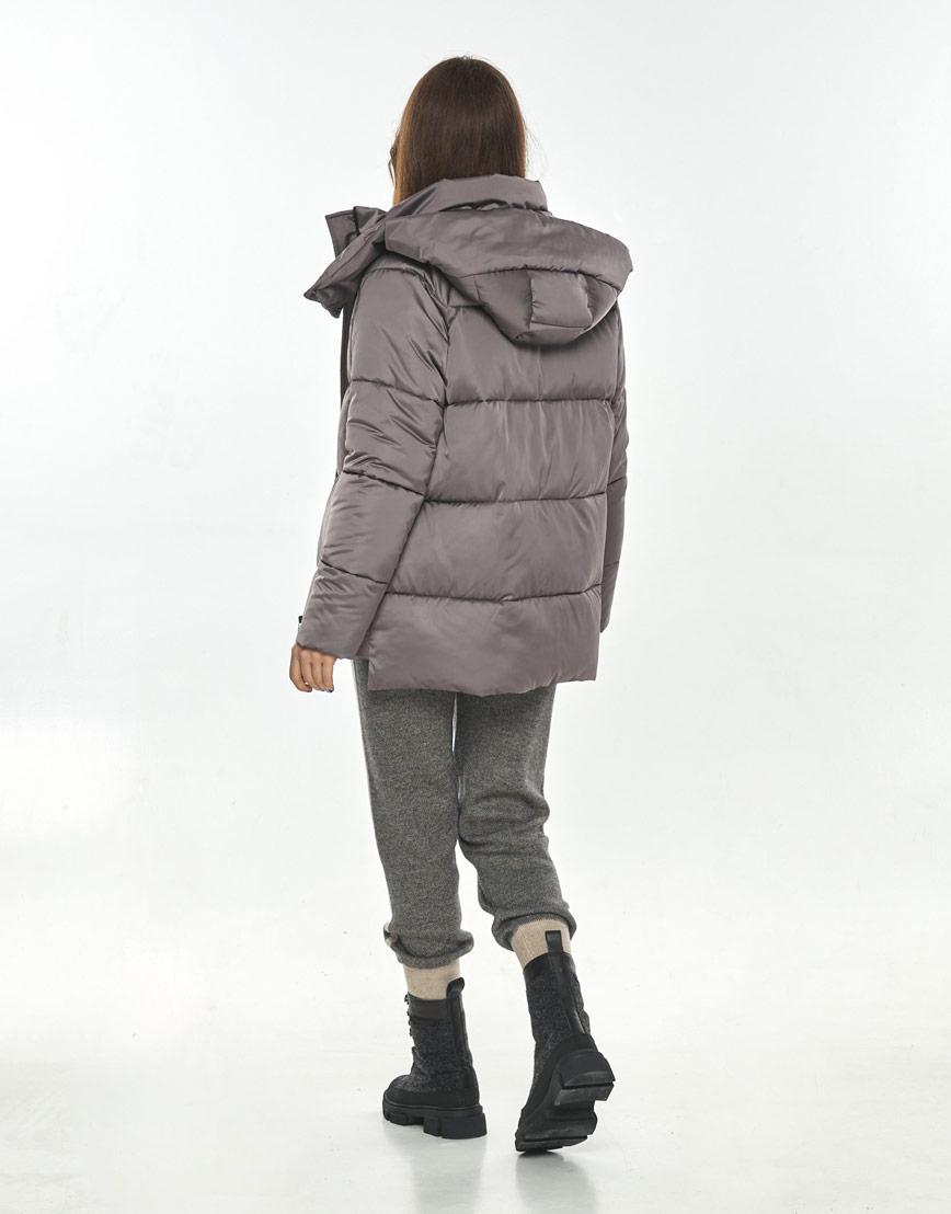 Практичная куртка осенняя женская Ajento цвет пудра 22430 фото 3