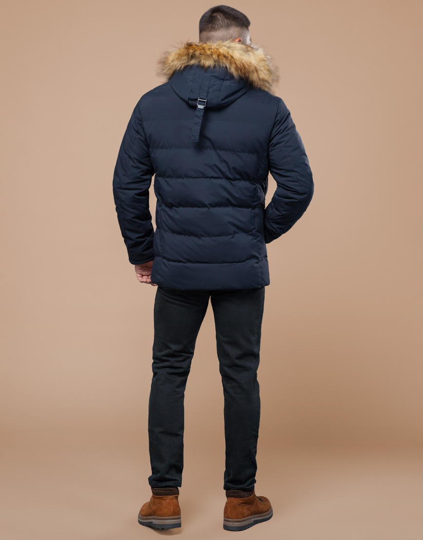 Синяя куртка мужская на зиму модель 25780 фото 4