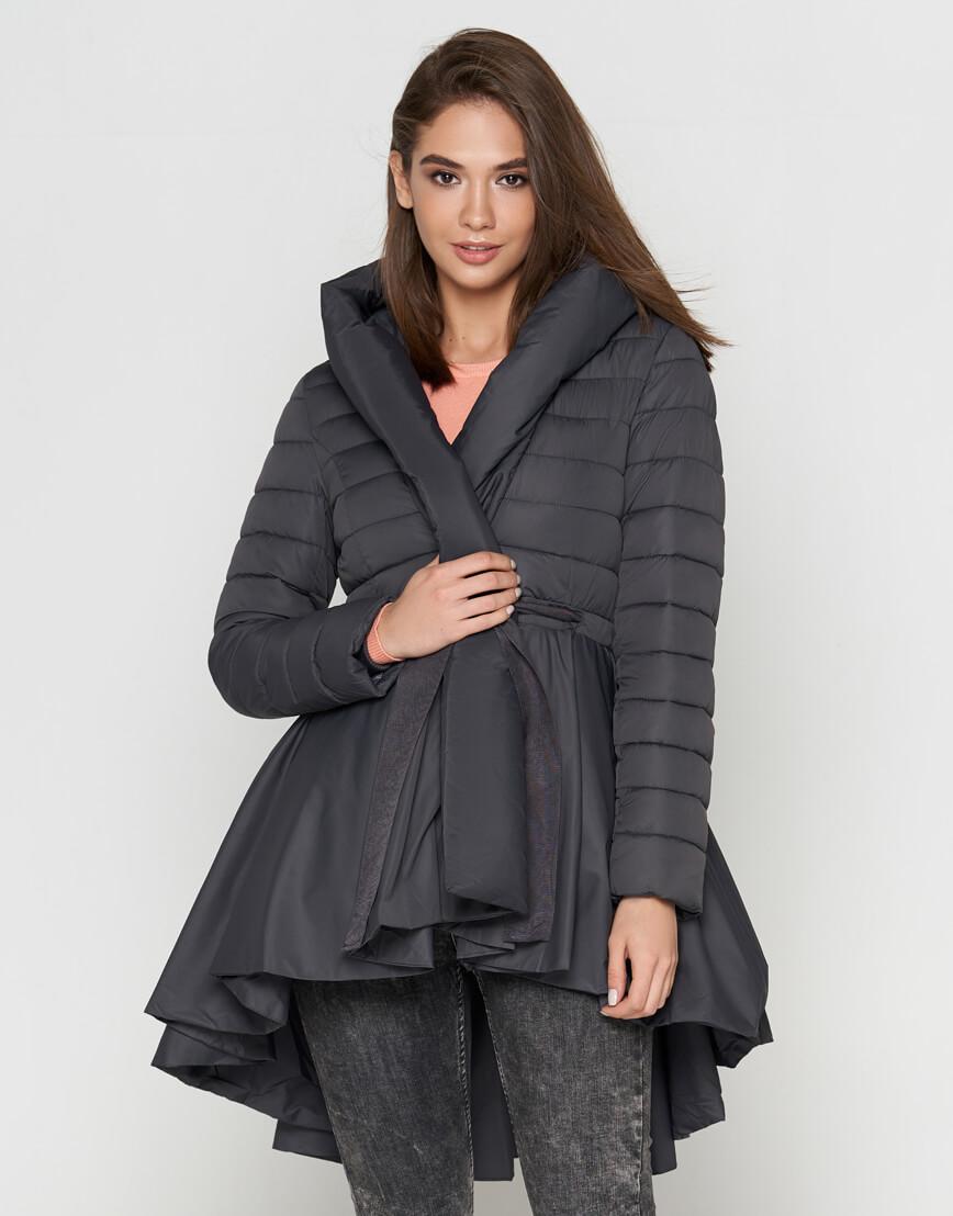 Женская серая куртка легкая модель 25755 фото 2