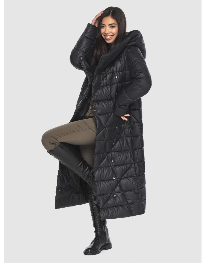Куртка элегантная на подростка чёрная Moc зимняя M6715 фото 6