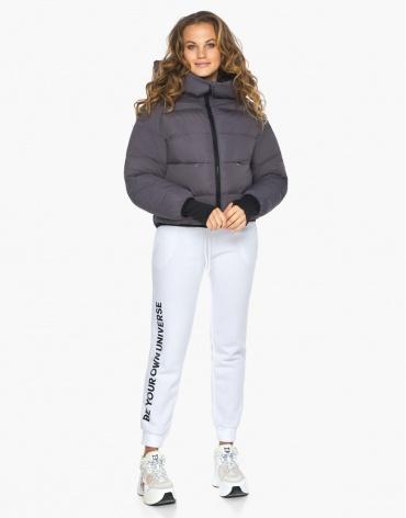 Пуховик куртка Youth женская графитовая комфортная модель 26420 фото 1