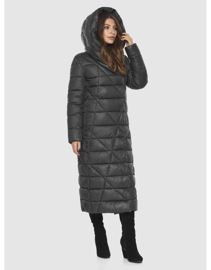 Длинная женская серая куртка Ajento удобная 23795 фото 1