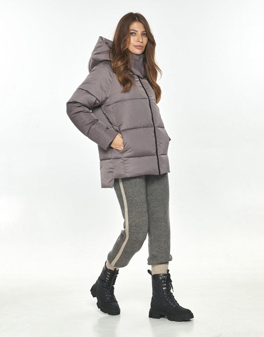 Практичная куртка осенняя женская Ajento цвет пудра 22430 фото 1