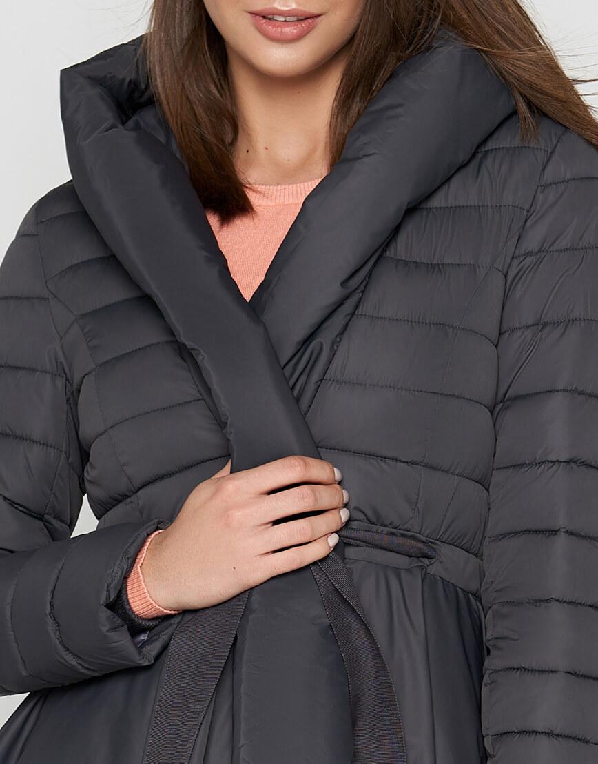 Женская серая куртка легкая модель 25755 фото 4