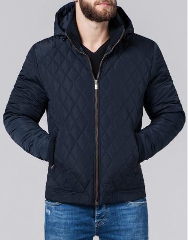 Качественная мужская куртка синего цвета модель 2686