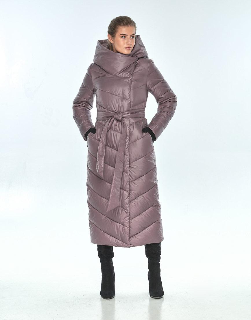 Зимняя пудровая куртка Ajento комфортная женская 23046 фото 2