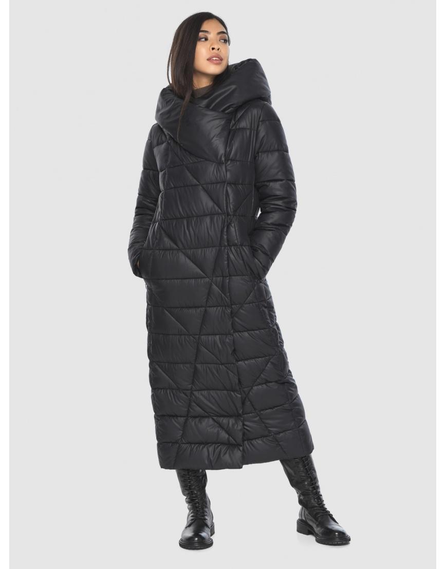 Куртка элегантная на подростка чёрная Moc зимняя M6715 фото 1
