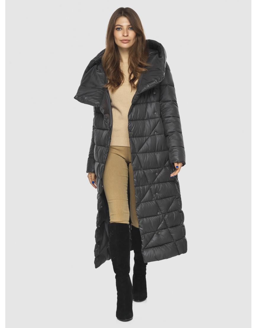 Длинная женская серая куртка Ajento удобная 23795 фото 2