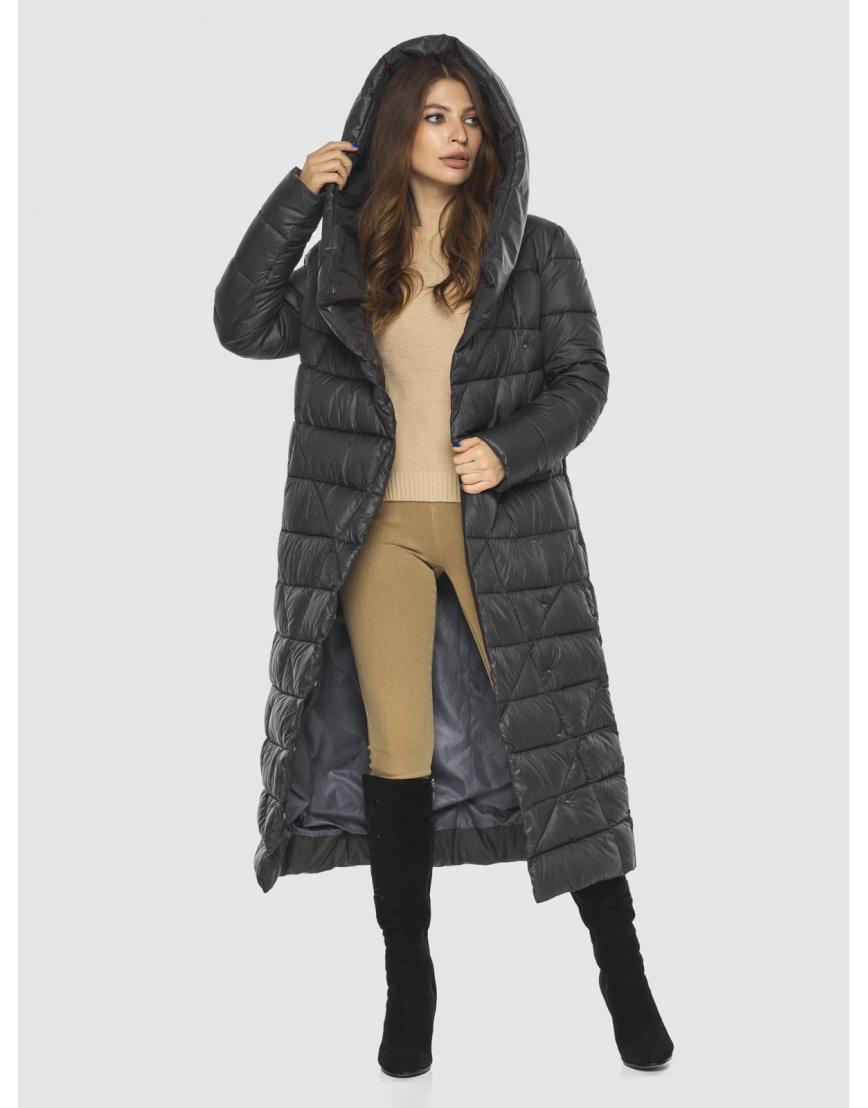 Длинная женская серая куртка Ajento удобная 23795 фото 5