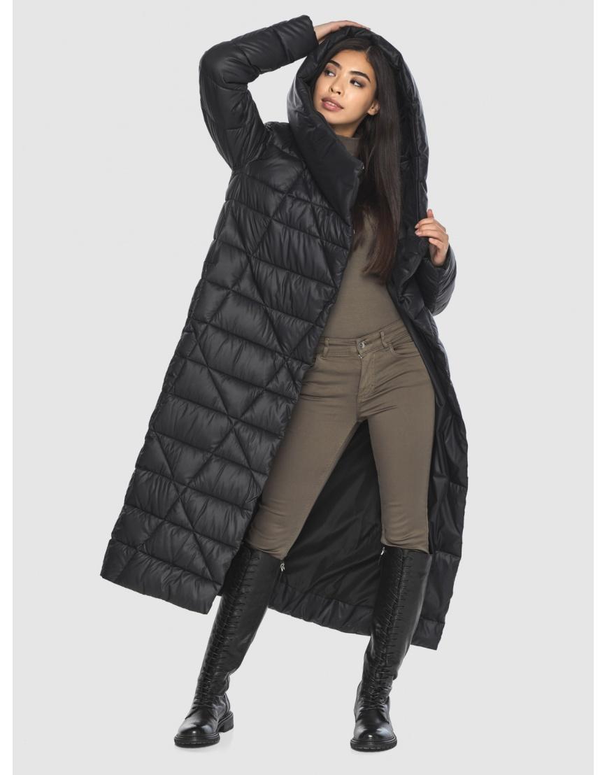 Куртка элегантная на подростка чёрная Moc зимняя M6715 фото 2