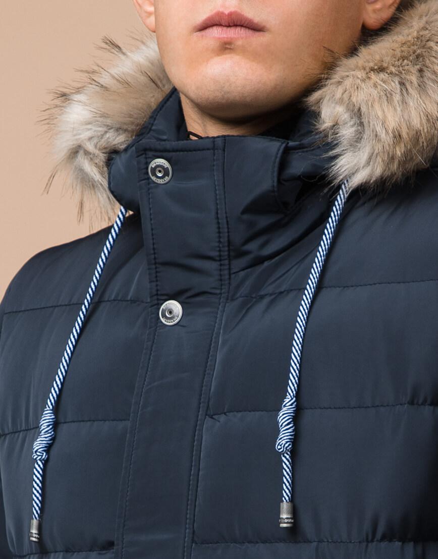 Качественная куртка синяя с капюшоном модель 20128