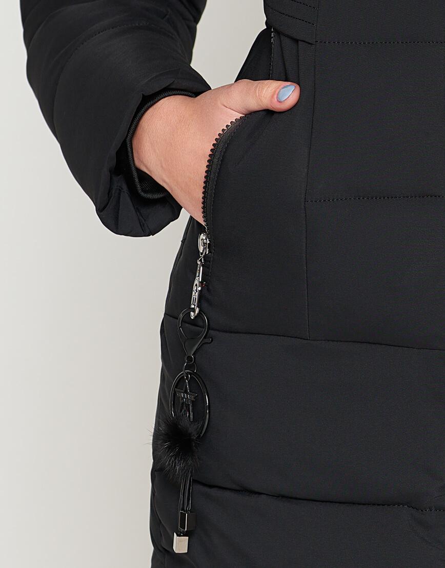 Женская молодежная черная куртка модель 25325