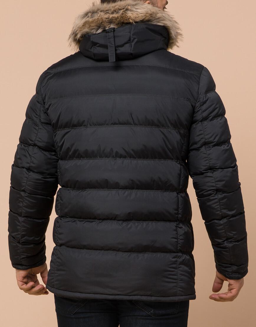 Графитовая куртка большого размера стильная модель 23752 фото 3