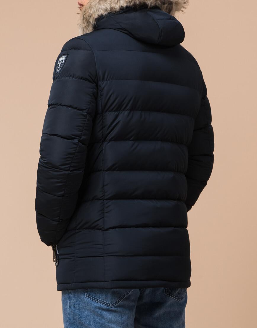 Мужская темно-синяя куртка на молнии модель 20128
