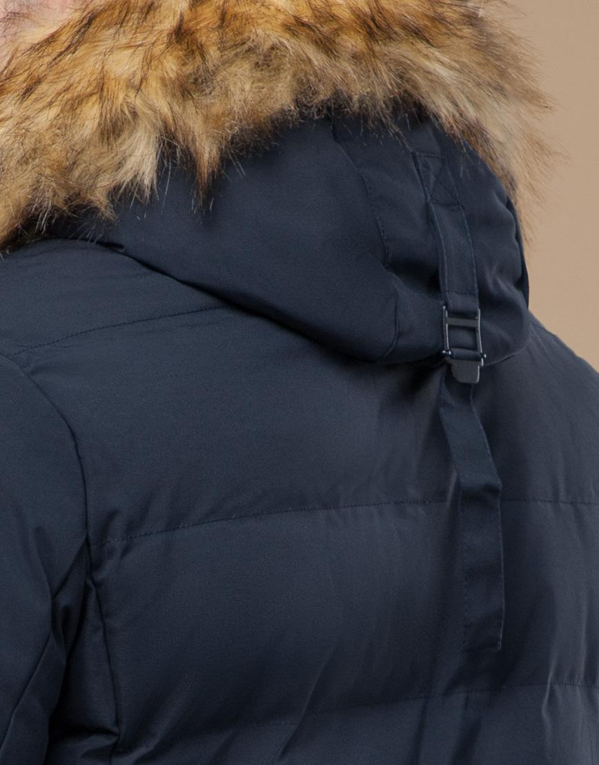 Куртка темно-синяя зимняя комфортная модель 25780 фото 7