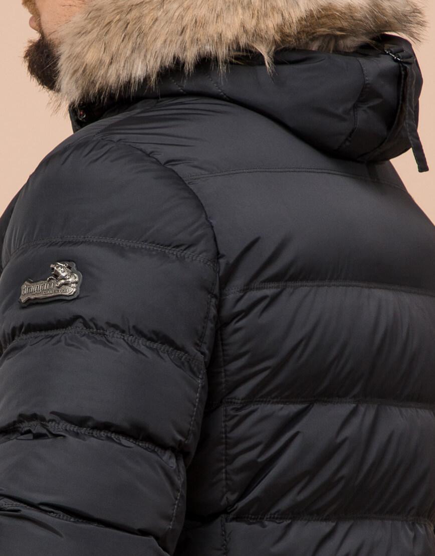 Графитовая куртка большого размера стильная модель 23752 фото 6