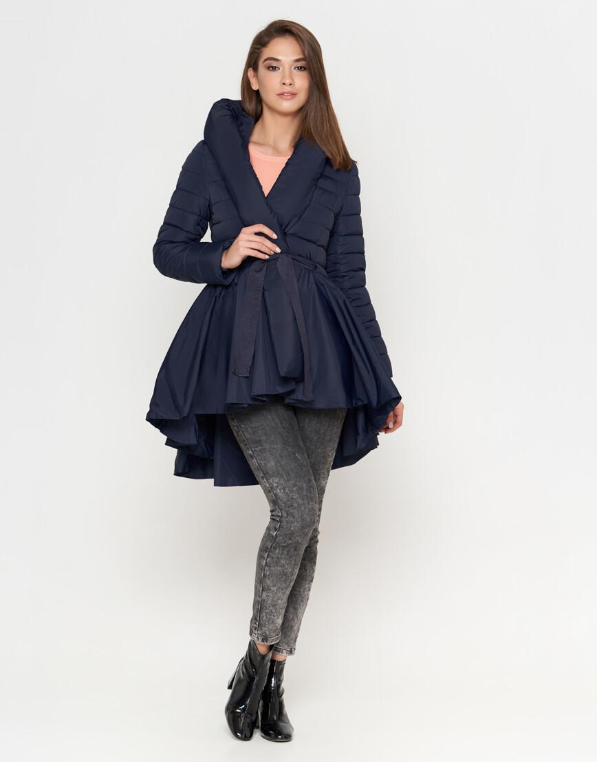 Модная синяя женская куртка модель 25755 фото 2