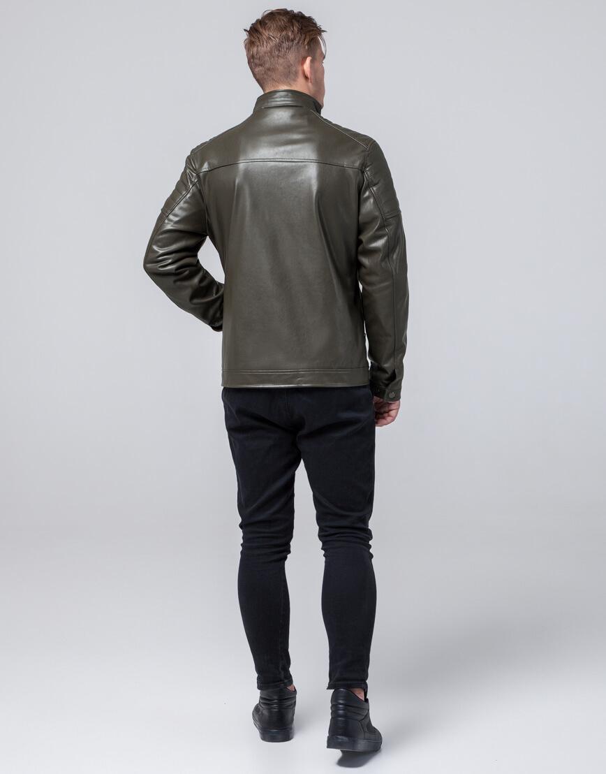 Осенне-весенняя куртка молодежная цвета хаки модель 2612 фото 4