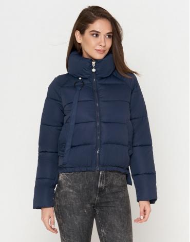 Короткая женская куртка цвет синий модель 25222 фото 1