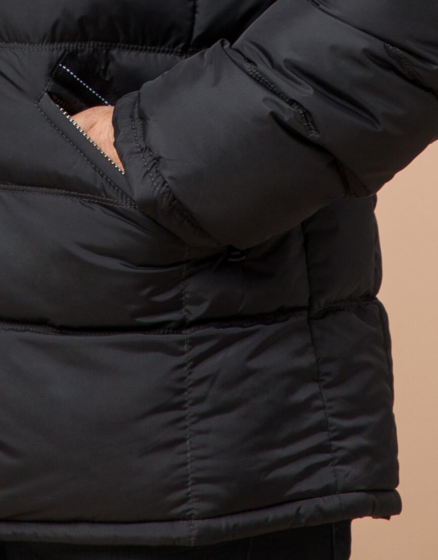 Графитовая куртка большого размера стильная модель 23752 фото 5