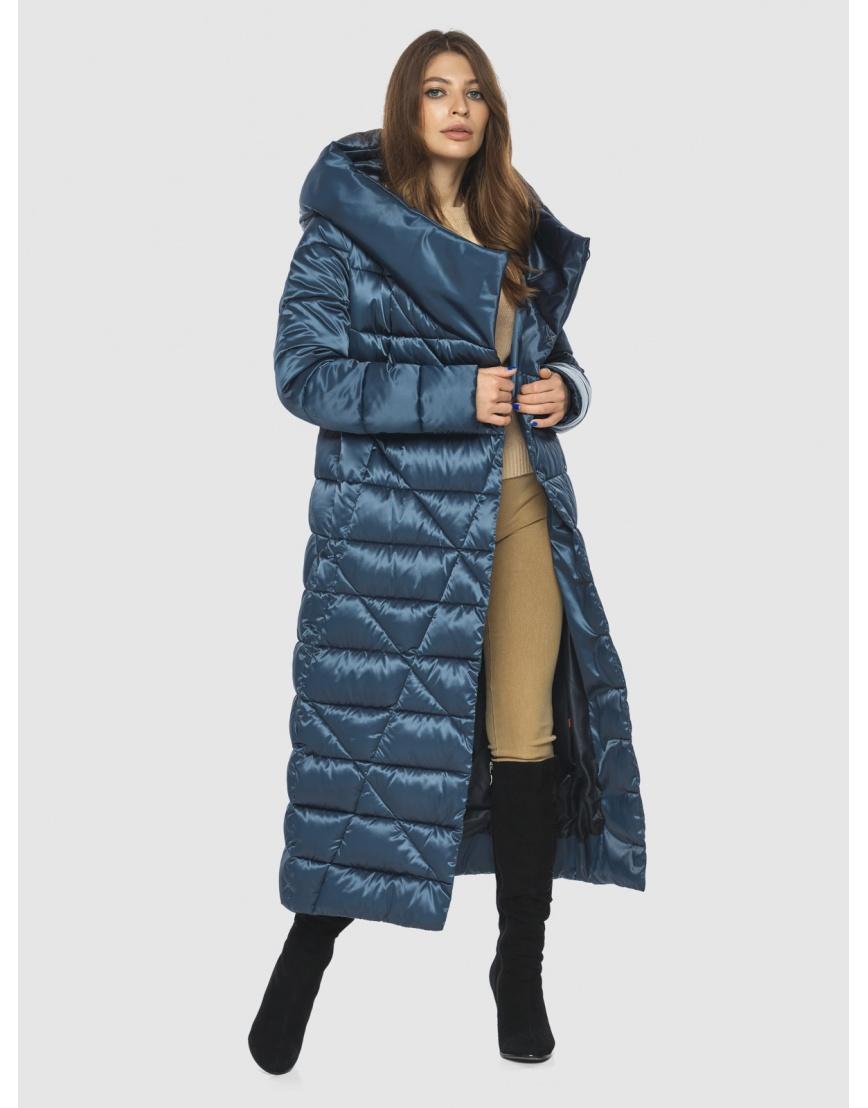 Синяя женская комфортная куртка Ajento 23795 фото 2