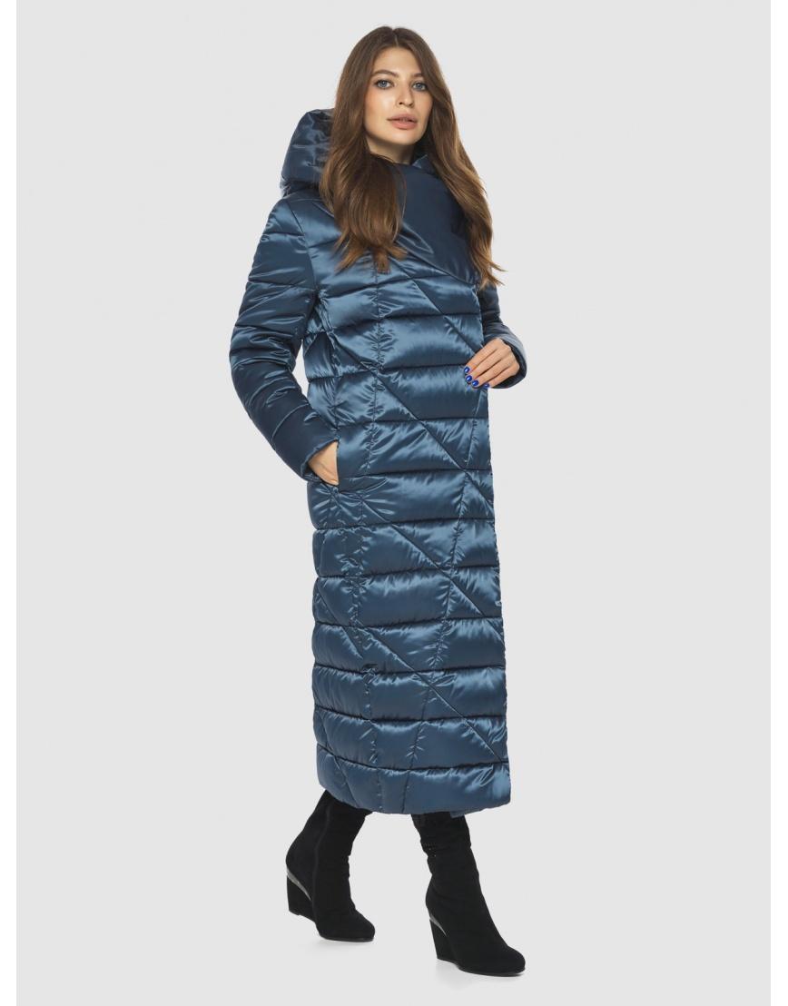 Синяя женская комфортная куртка Ajento 23795 фото 5