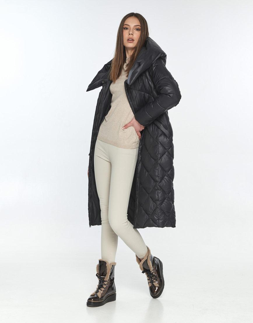 Чёрная куртка практичная женская Wild Club 594-37 фото 2