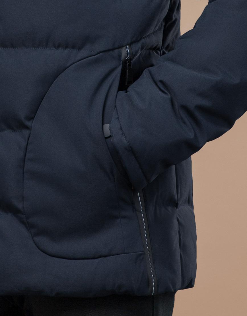 Куртка темно-синяя зимняя комфортная модель 25780 фото 6
