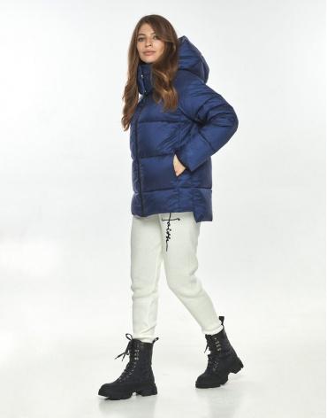 Синяя куртка с манжетами женская Ajento для весны 22430 фото 1