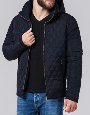 Темно-синяя куртка мужская модель 2686
