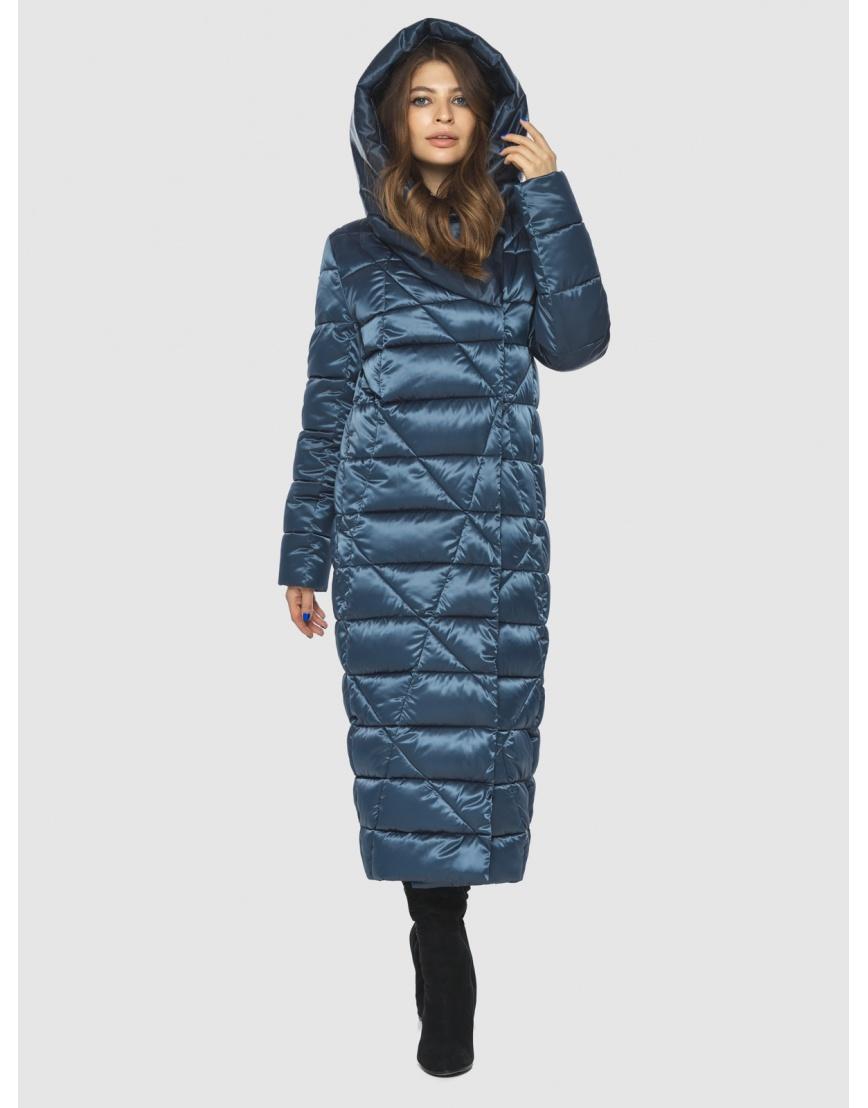 Синяя женская комфортная куртка Ajento 23795 фото 3