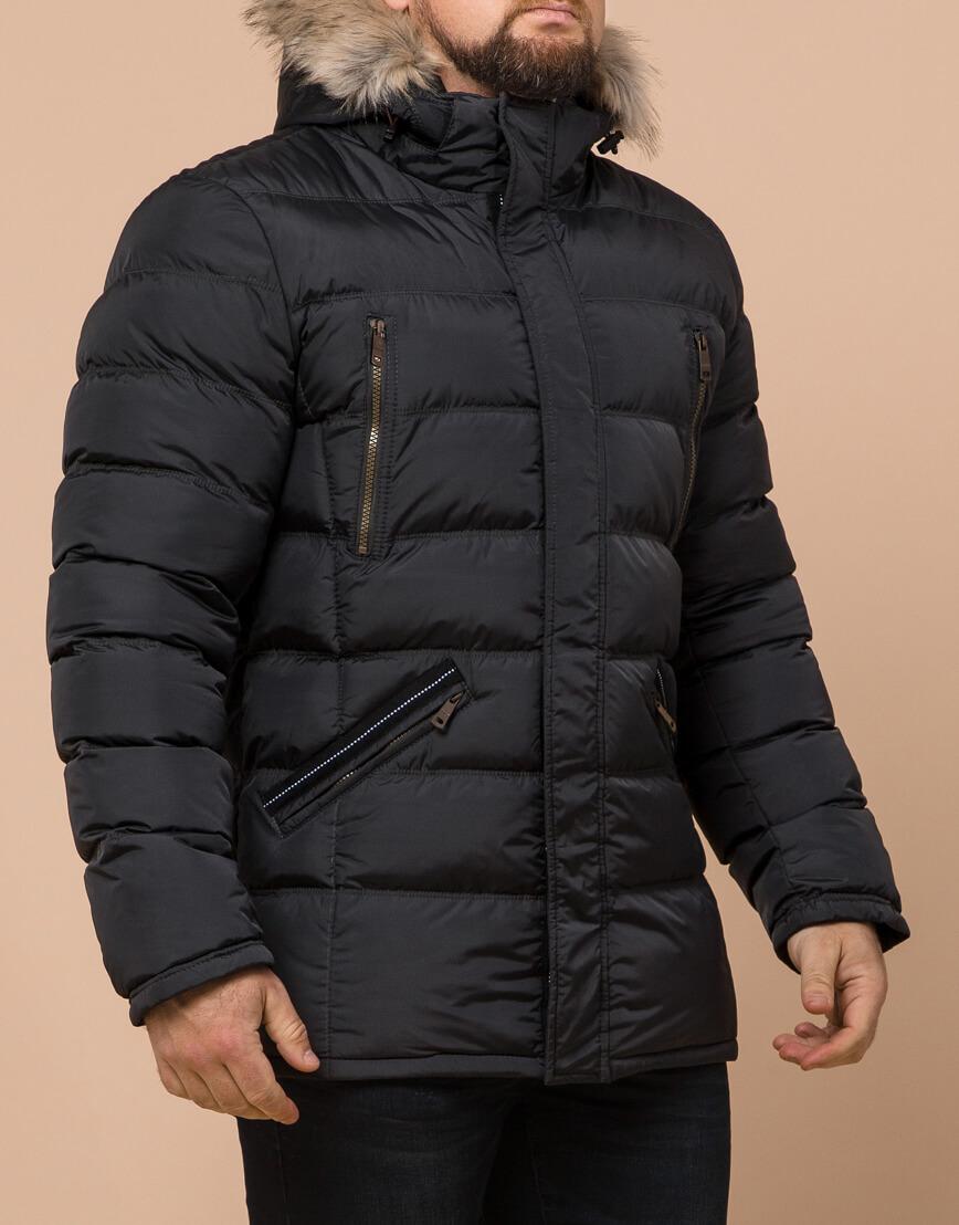 Графитовая куртка большого размера стильная модель 23752 фото 2