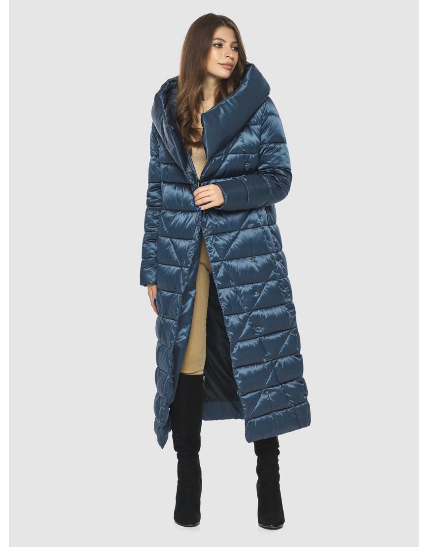 Синяя женская комфортная куртка Ajento 23795 фото 6