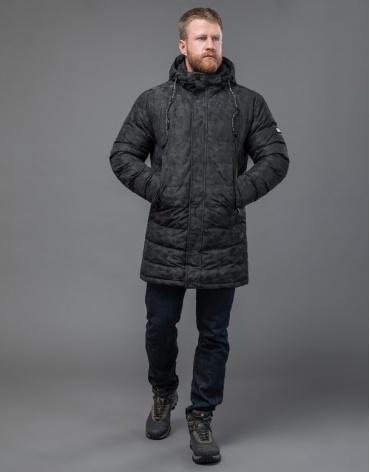 Дизайнерская куртка черная комфортная модель 70118