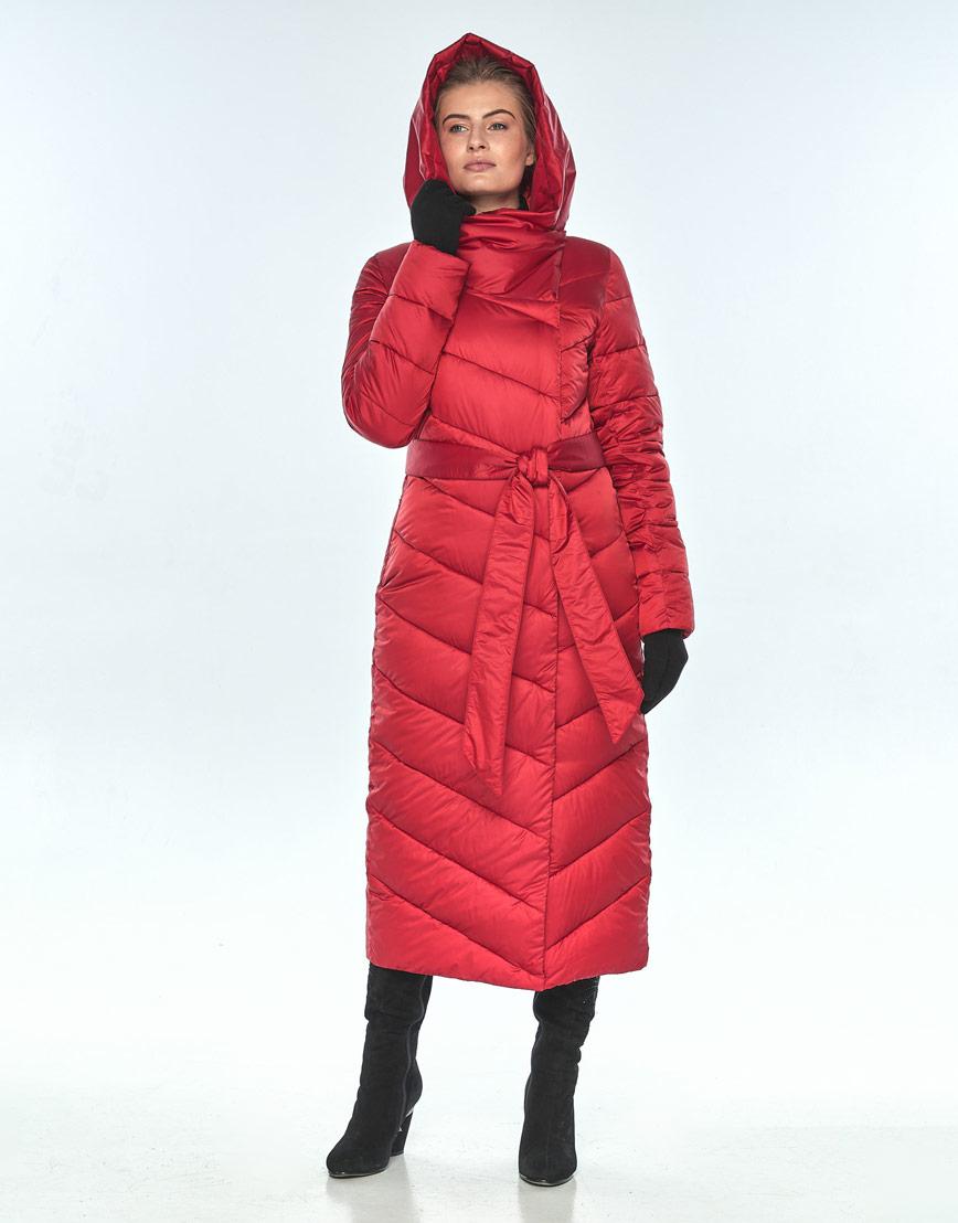 Яркая женская красная куртка Ajento зимняя 23046 фото 1