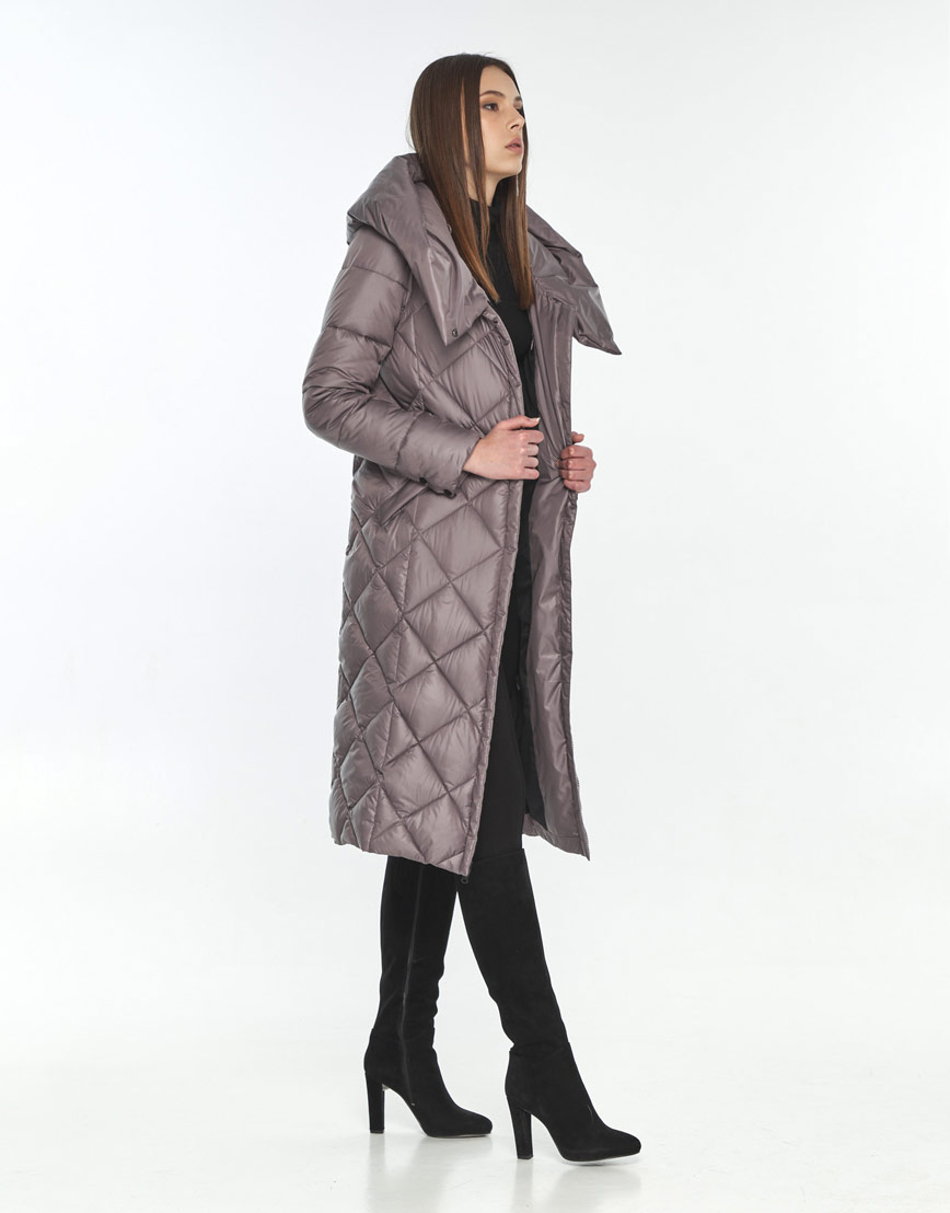 Куртка осенняя пудровая женская Wild Club удобная 594-37 фото 1