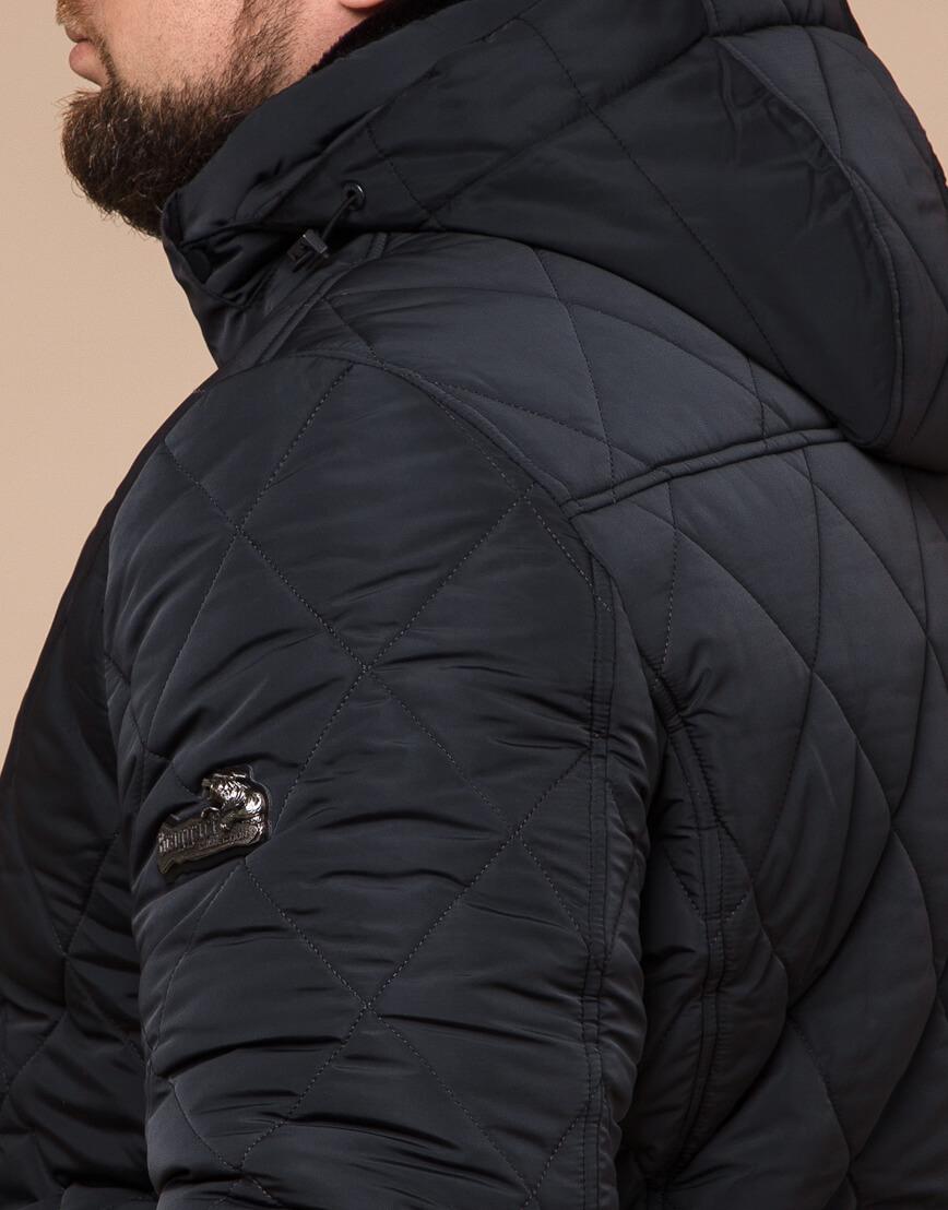 Современная зимняя куртка цвет графит модель 19121 фото 6