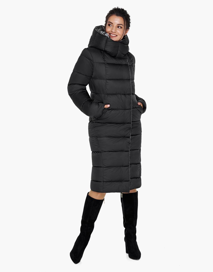 Черный женский воздуховик Braggart качественного пошива зимний модель 31028 фото 2