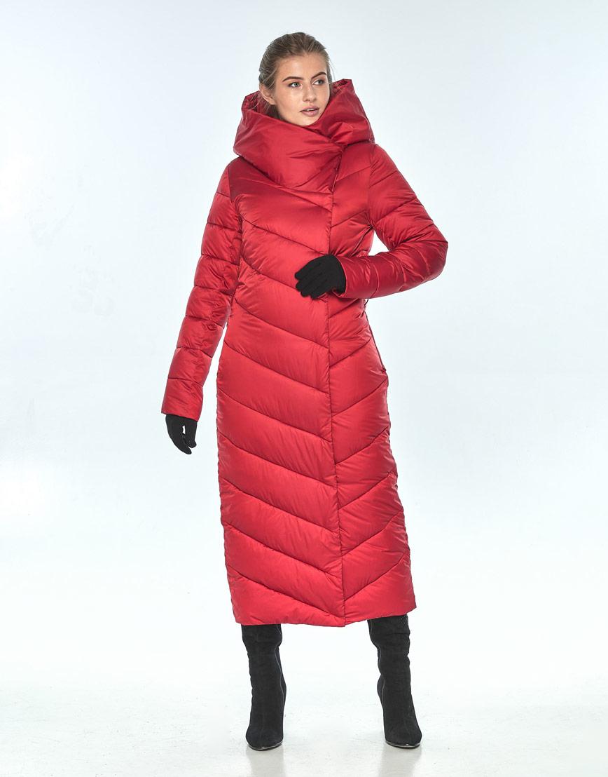 Яркая женская красная куртка Ajento зимняя 23046 фото 2