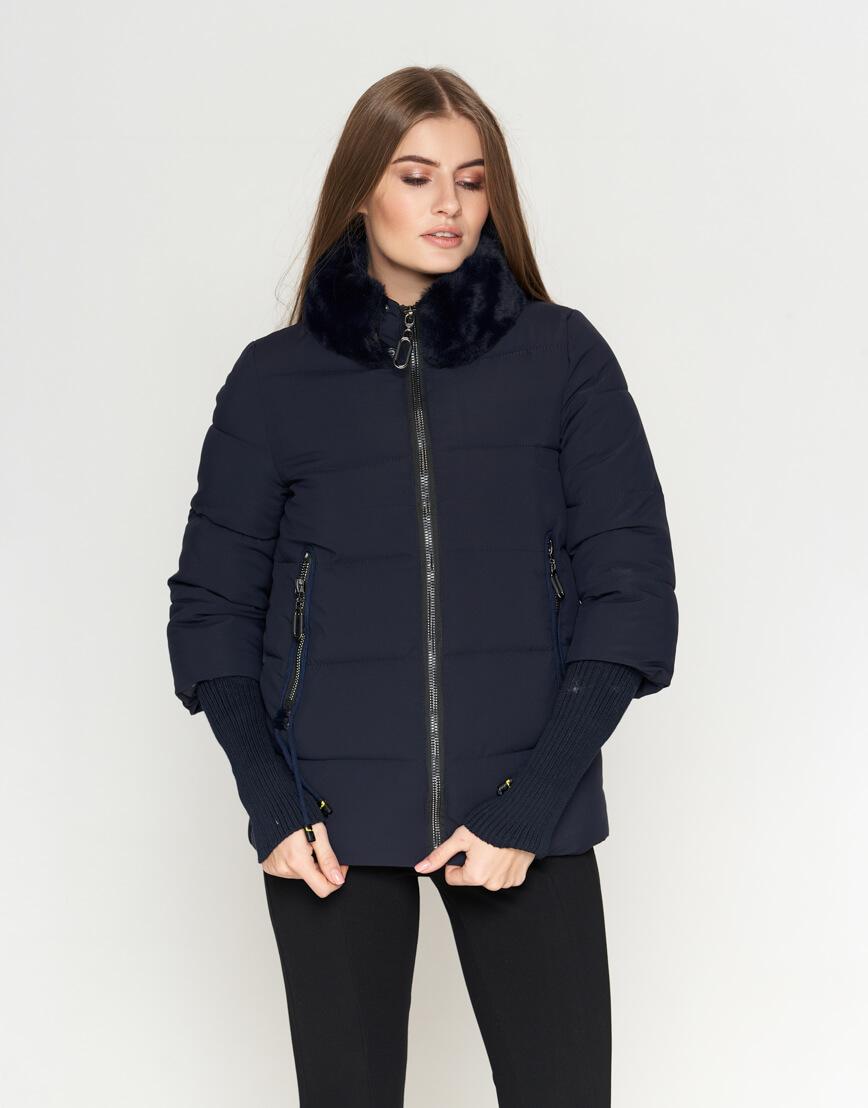 Куртка синяя женская модная модель 1719-1