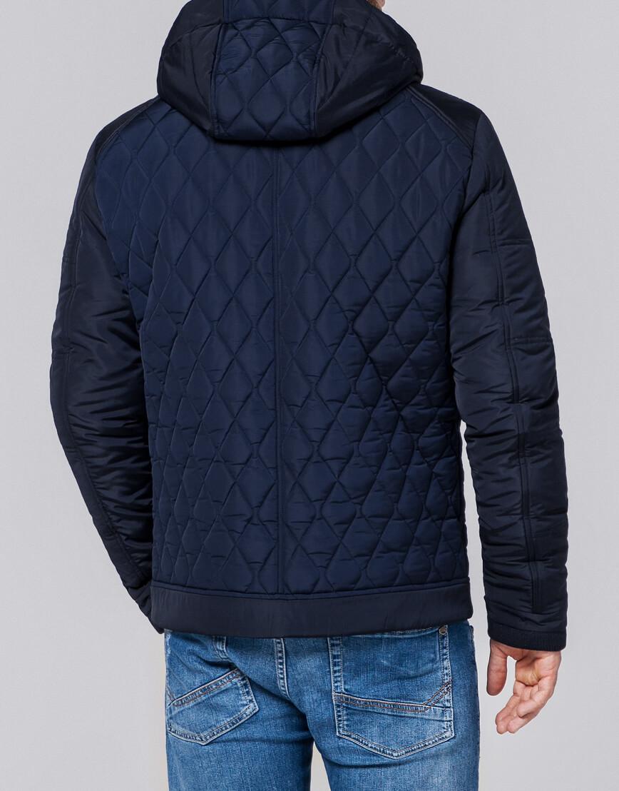 Куртка современная мужская темно-синяя модель 2686 фото 3