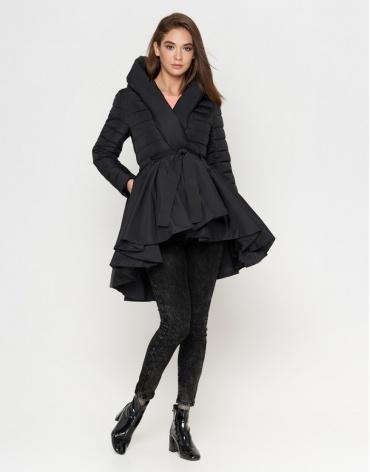 Куртка современная черная женская модель 25755 фото 1