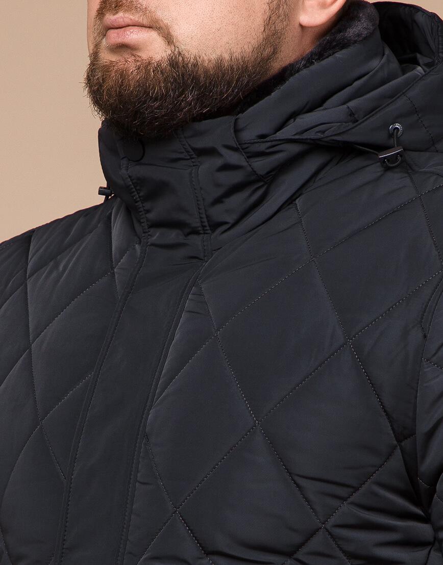 Современная зимняя куртка цвет графит модель 19121 фото 4