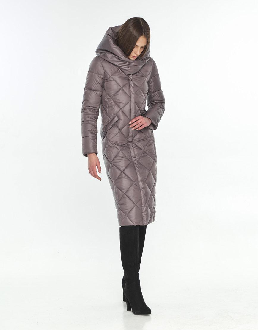 Куртка осенняя пудровая женская Wild Club удобная 594-37 фото 2
